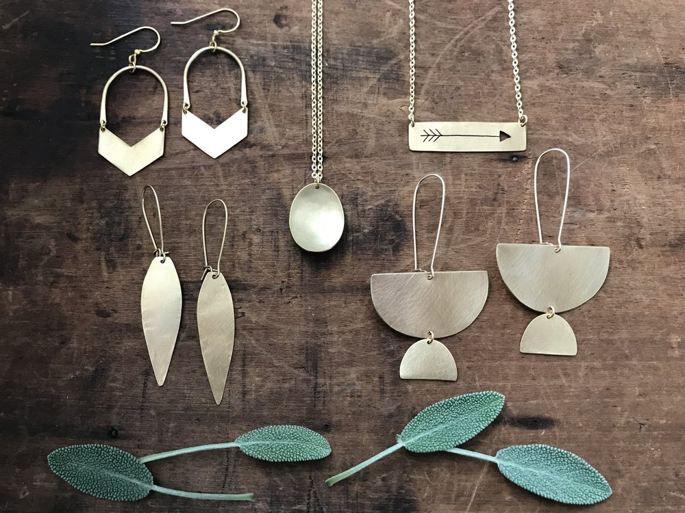 Brass Beauties jewelry gift guide January Jewelry