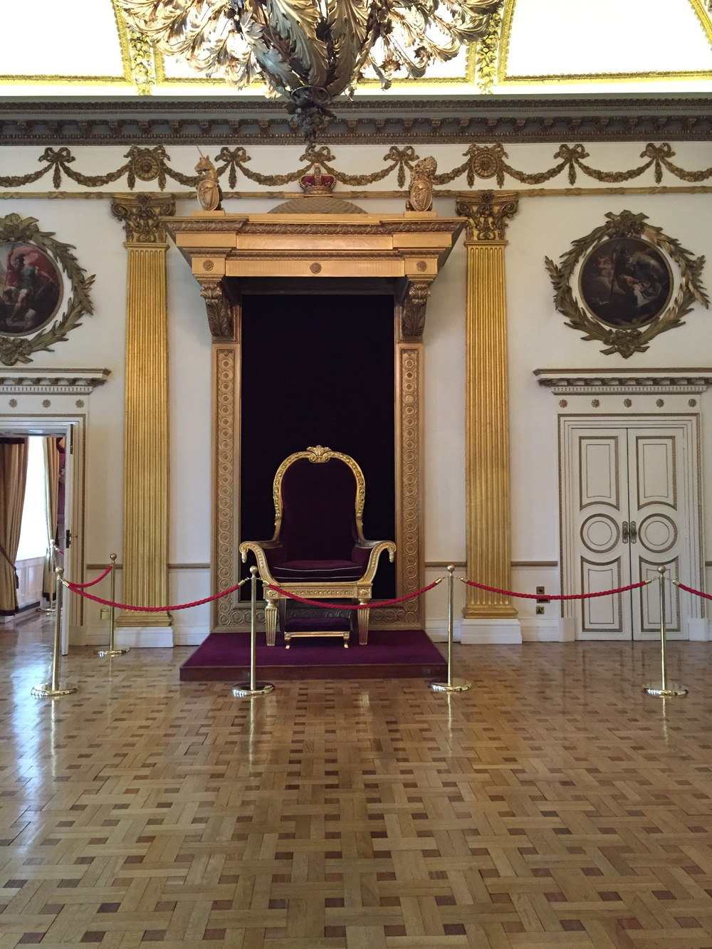 The throne room which had been completely redecorated when Queen Victoria came to visit in the 1800s. It has since been refinished to look like it did for her arrival.