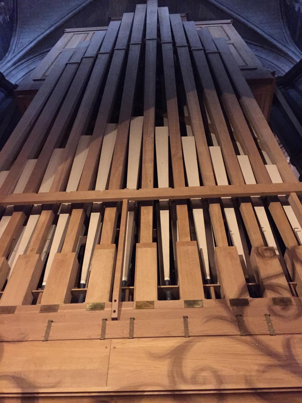 Huge organ pipes.