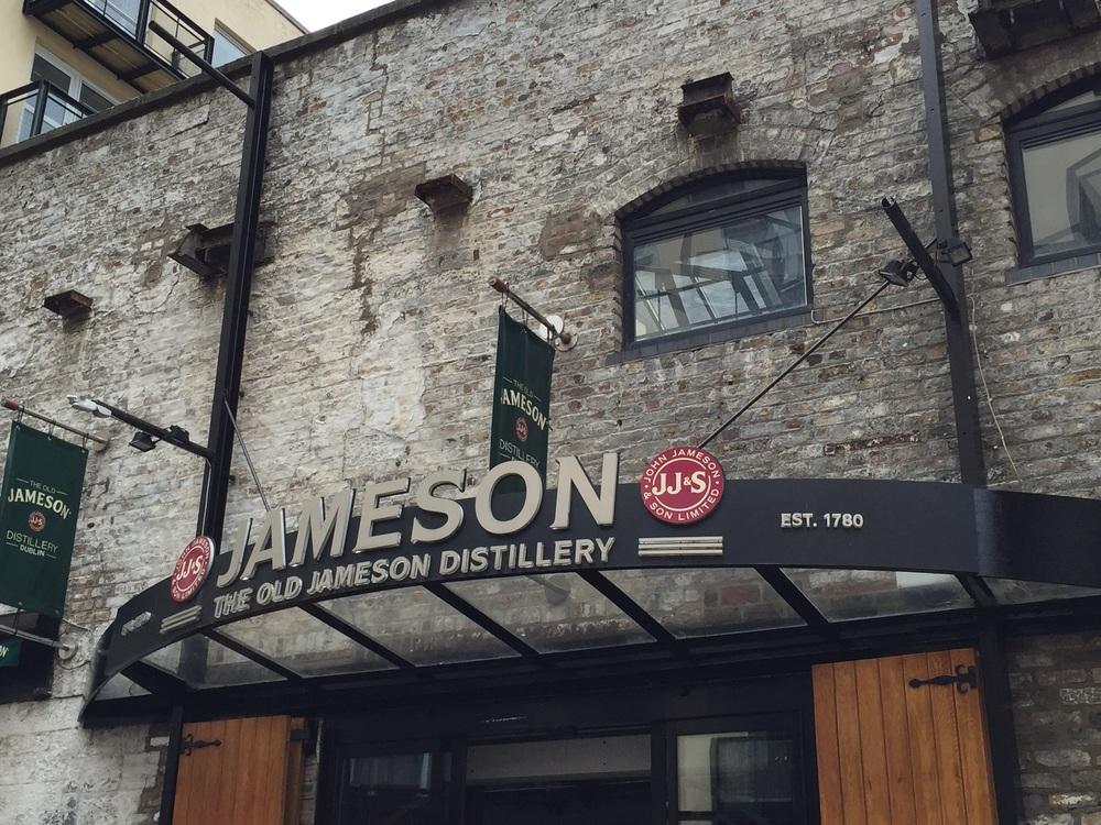 Entrance into Irish whiskey heaven...