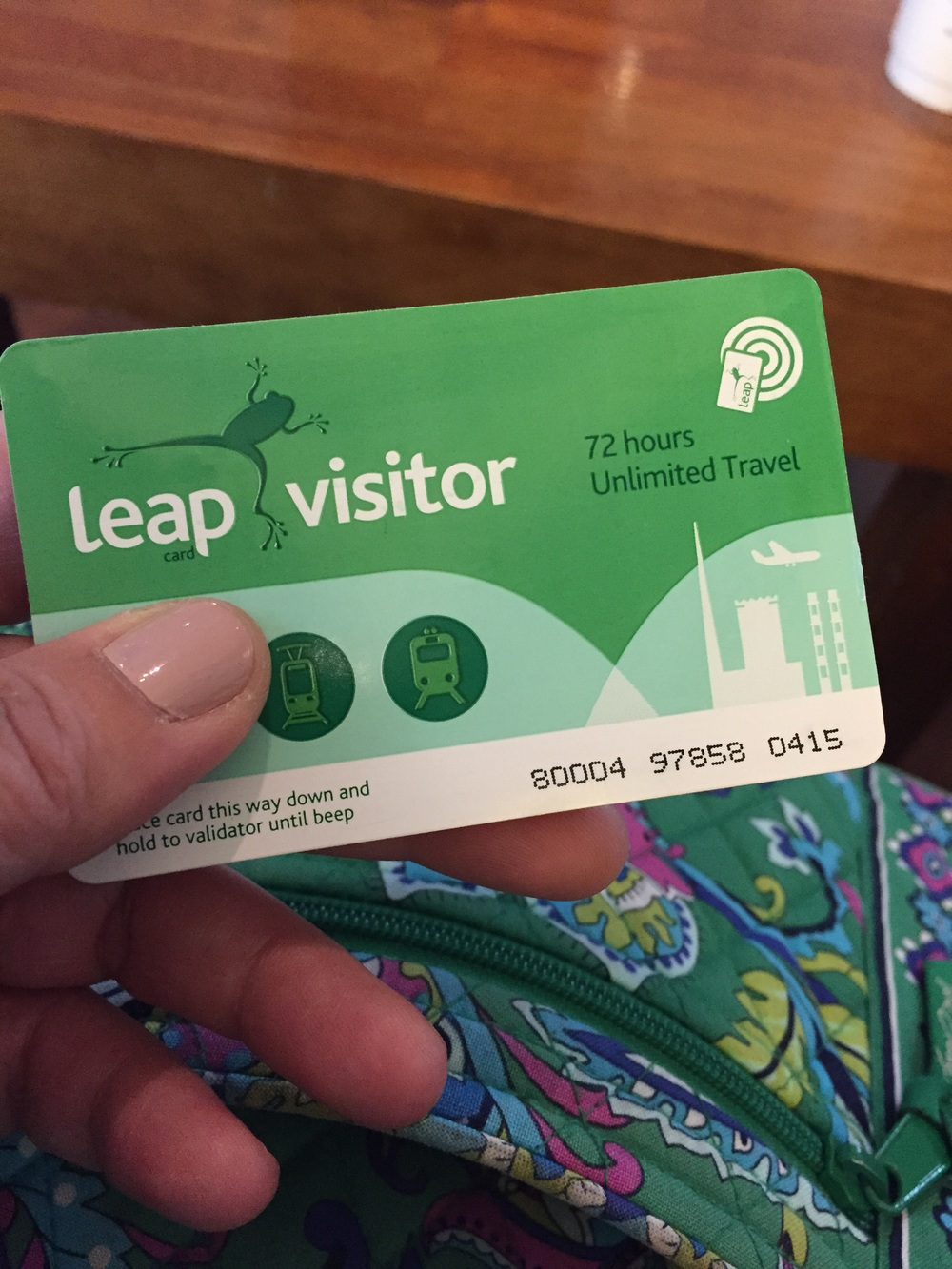 Leap Card...allows you access for any public transportation in Dublin...NOT cabs. We purchased it at the airport when we arrived.