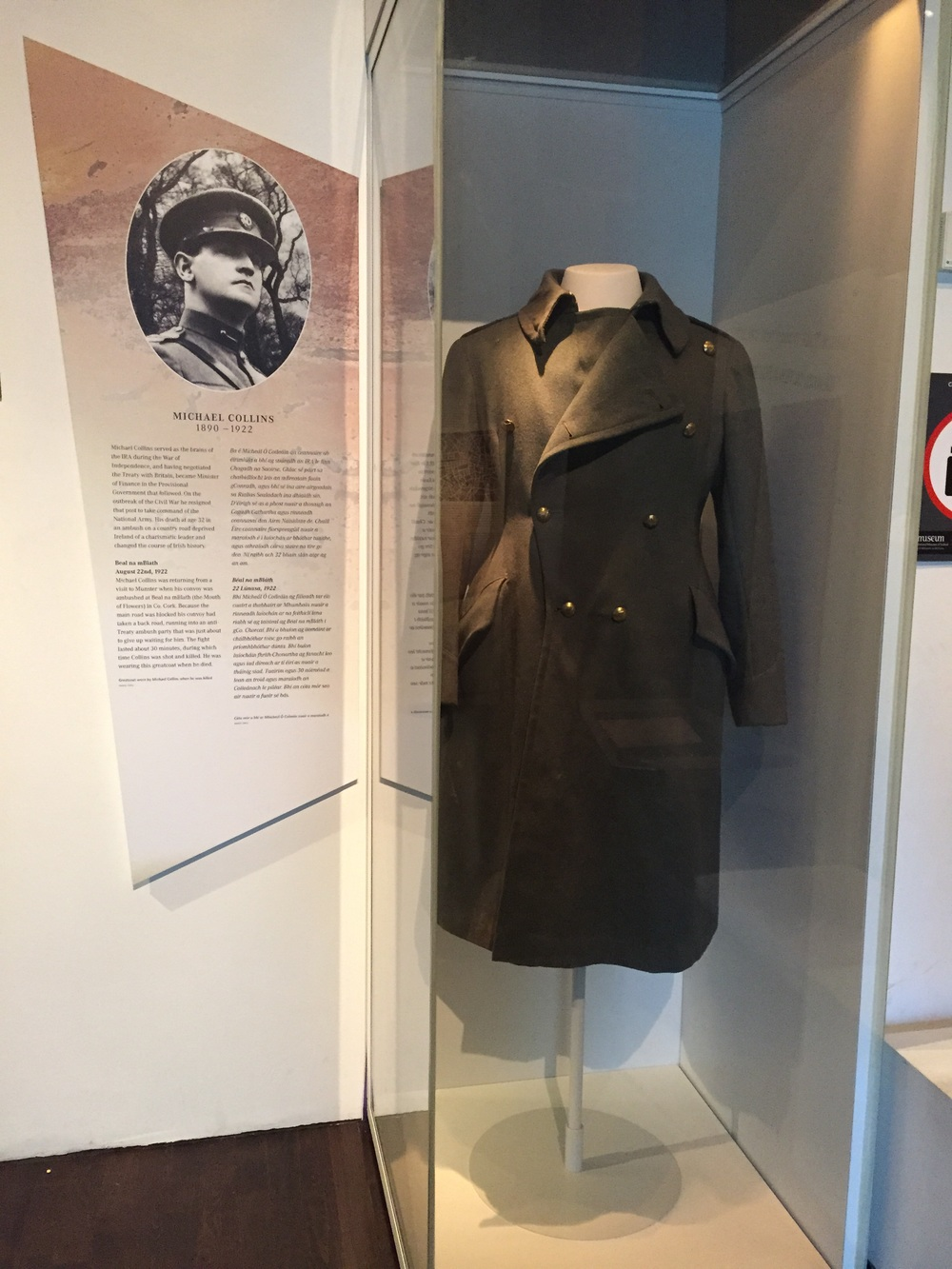 Michael Collins' coat...