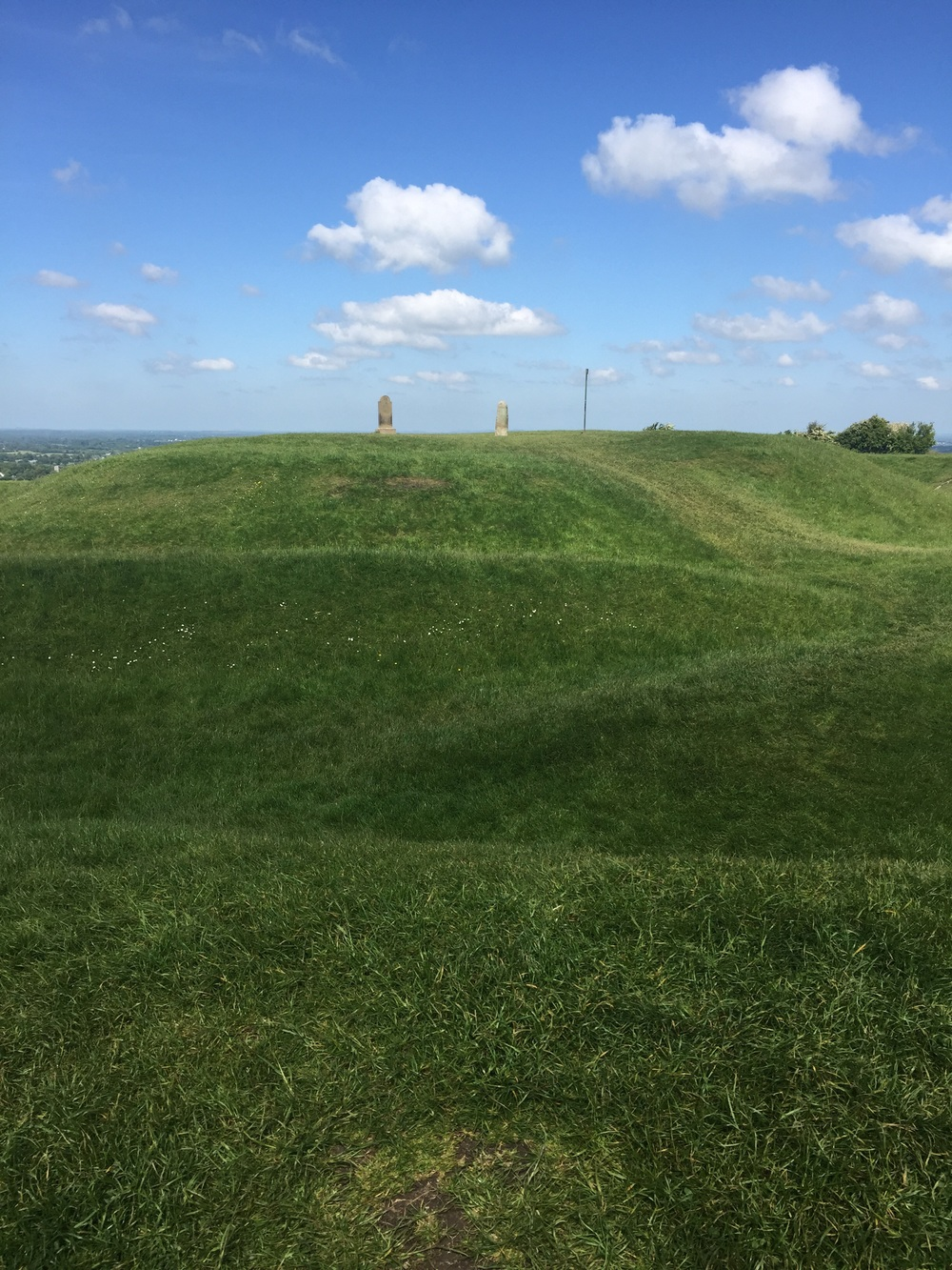 All of the humps in the grass were once tunnels and caverns.