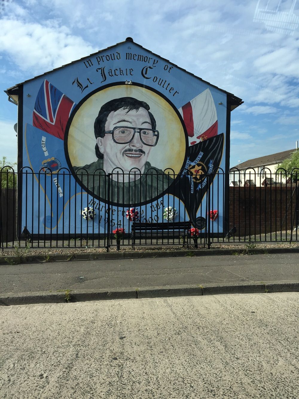 Memorial Mural depicting Jackie Coulter, a Loyalist(Protestant), killed in 2000.