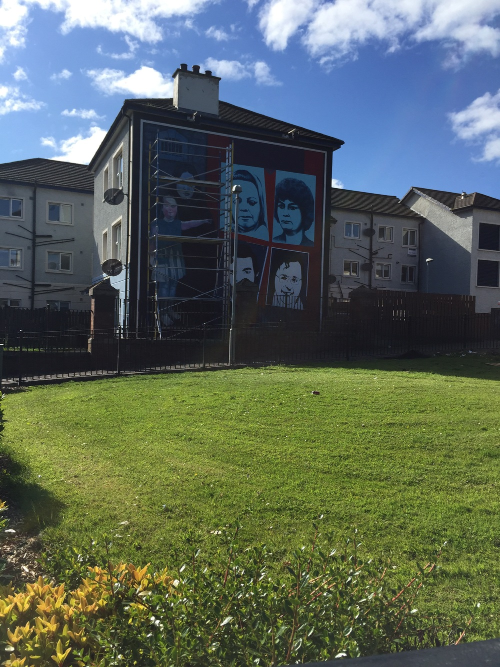 A new mural depicting the hunger strikes and Bobby Sands.