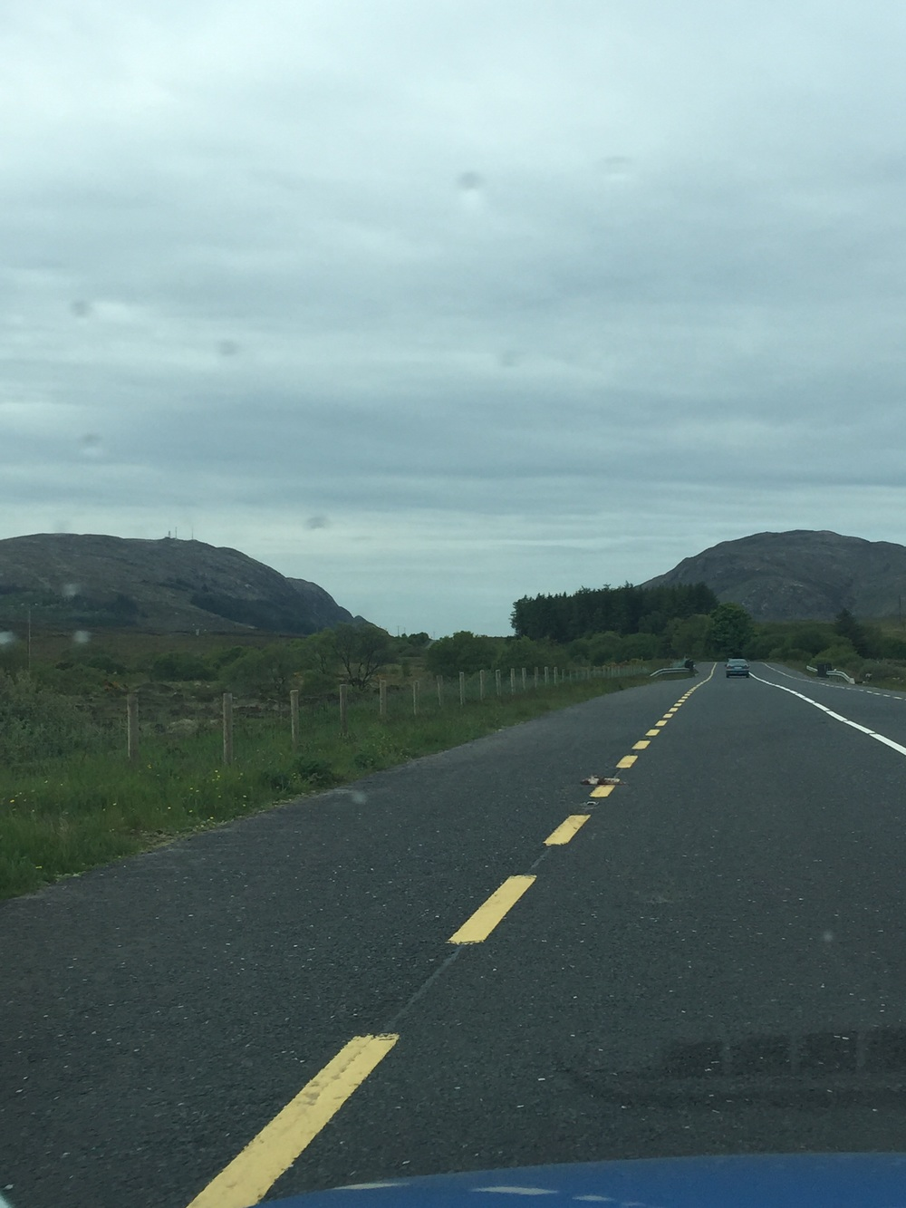 On the road...best way to travel Ireland, rent a car and muster the courage up to drive. We have seen so much beauty and mountains, like nothing ever seen!