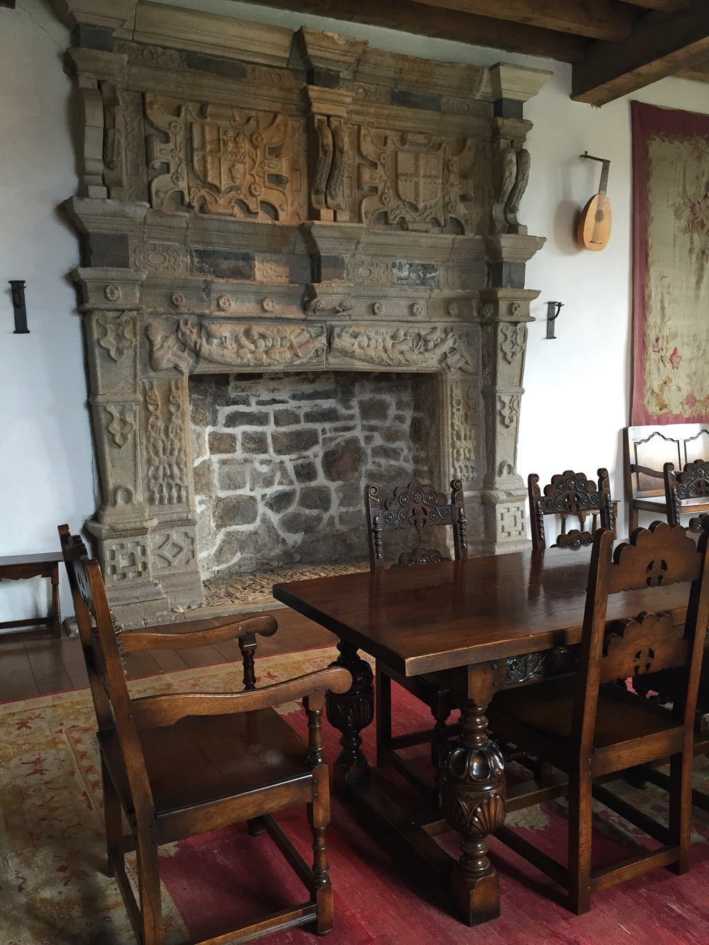 Original Jacobean fireplace...