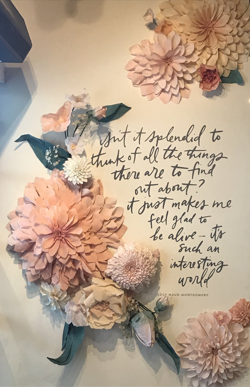 On the wall when you walk into Magnolia Market. Loved all of the little details.
