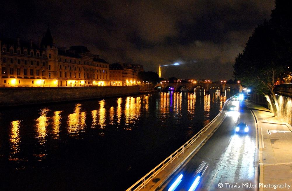 The Seine, by Lamplight /   Paris, France
