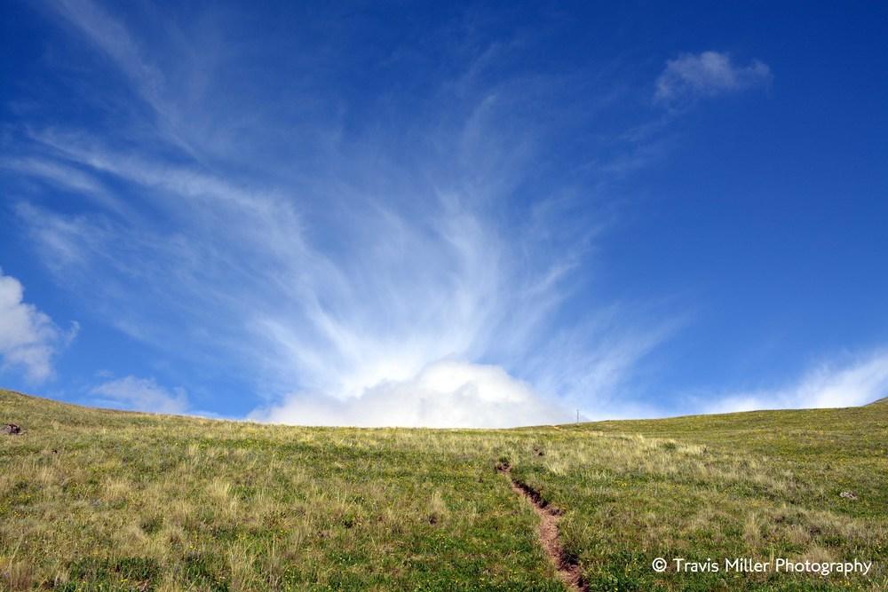 Hiking toward the Sun /     La Garita Wilderness Area, CO