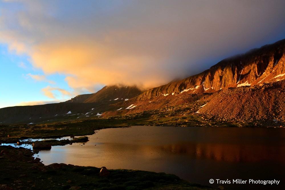 Machin Lake at Sunrise /     La Garita Wilderness Area, CO
