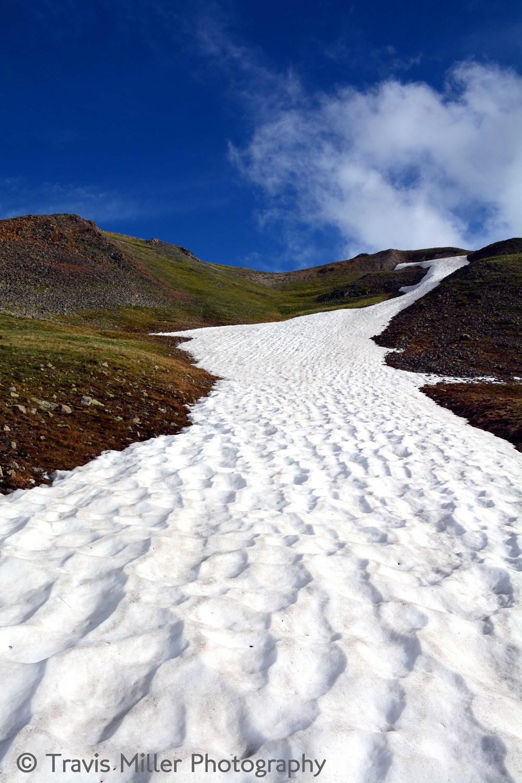 Summer Snow /     La Garita Wilderness Area, CO