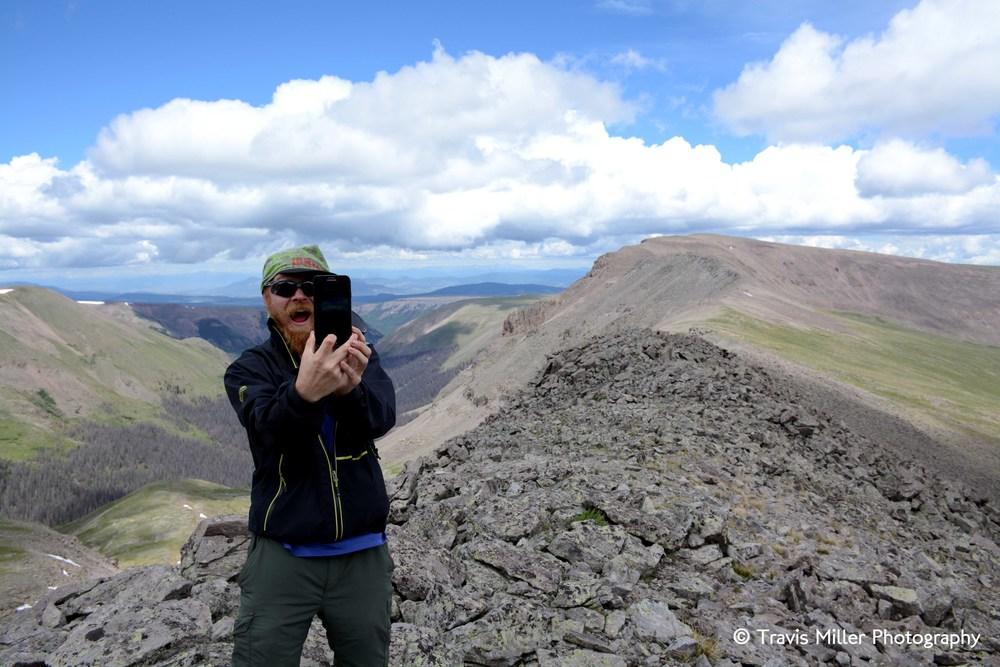 Brendan on the Continental Divide /     La Garita Wilderness Area, CO