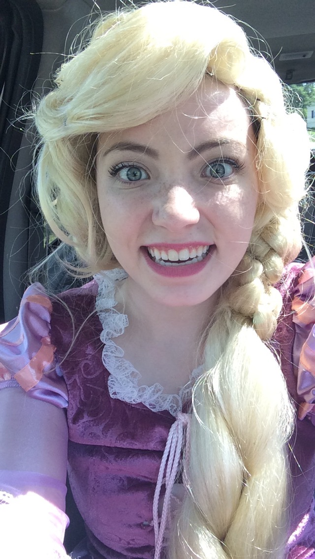 I don't post selfies on the Internet typically, but dressed as Rapunzel is an exception.