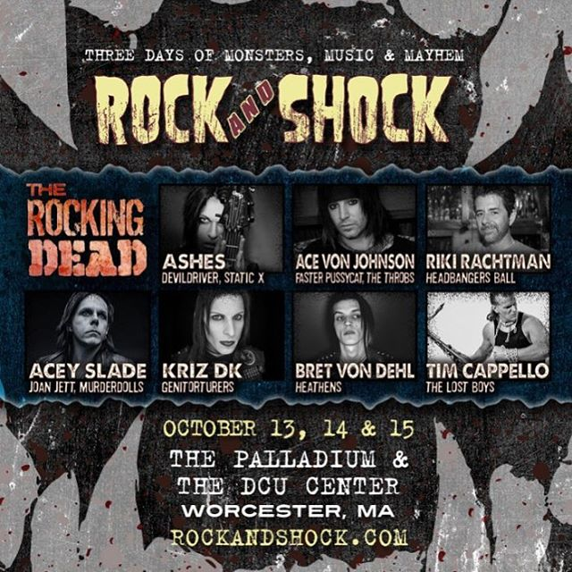 This weekend @krizdk will be appearing at the @rockandshockconvention in Worcester, MA for a special performance with The Rocking Dead all-star jam at the Palladium on Saturday 10/14!