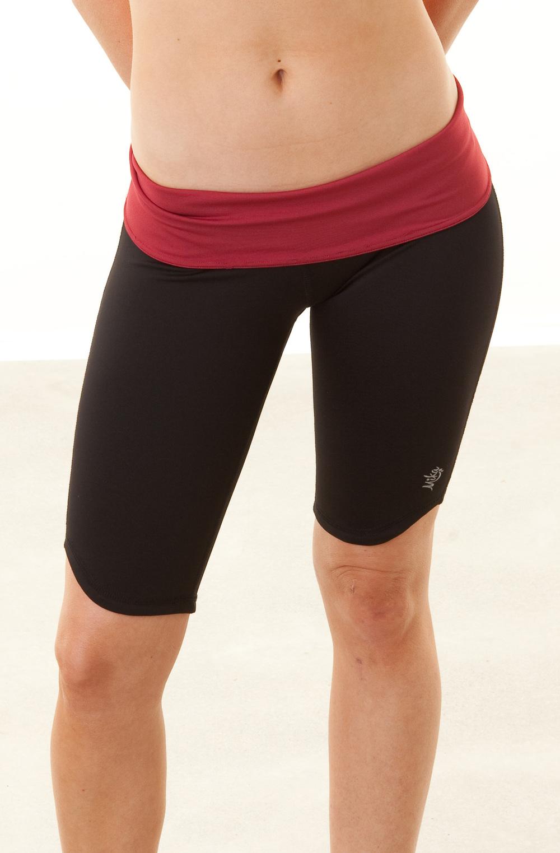Hot Yoga Long Fold-over Short