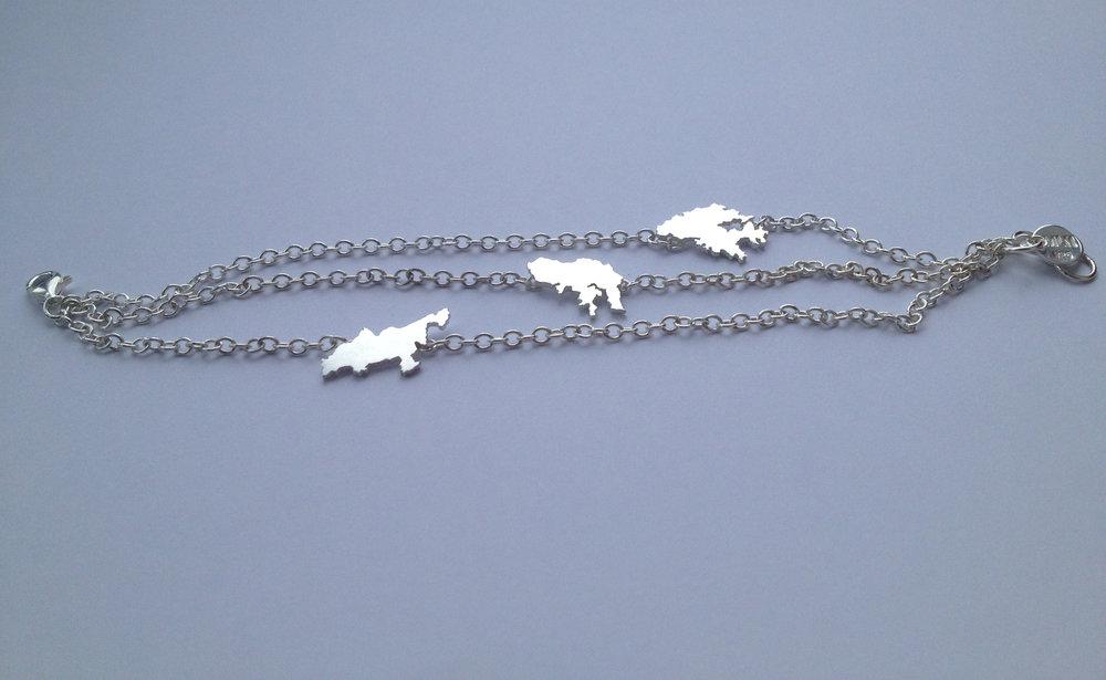 Bracelet Lantau, Hong Kong, Kowloon, silver