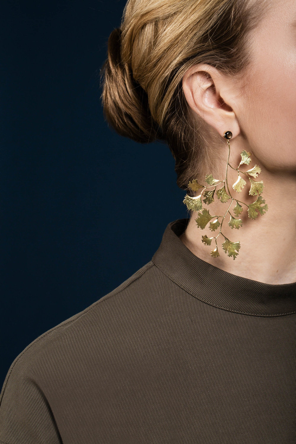 Ginko leaf earrings gold sapphire.jpg