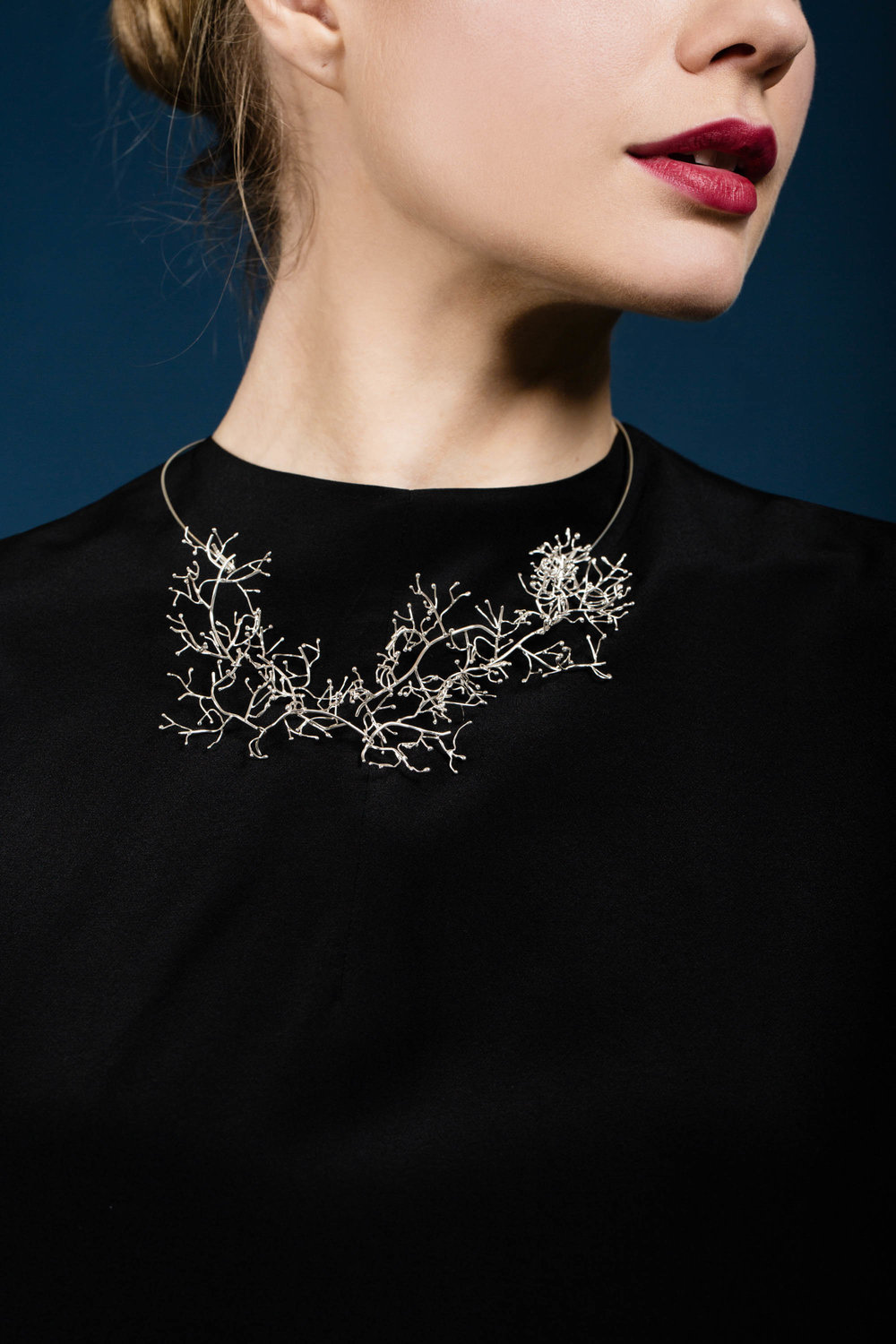 Meadows neckpiece silver single chain.jpg