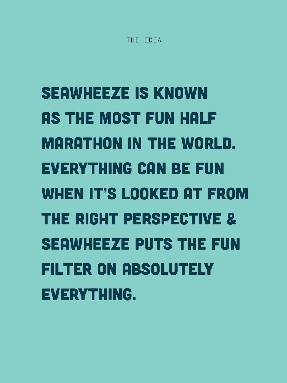 Creative insight that informed the brand strategy for the 2018 lululemon seawheeze half marathon.