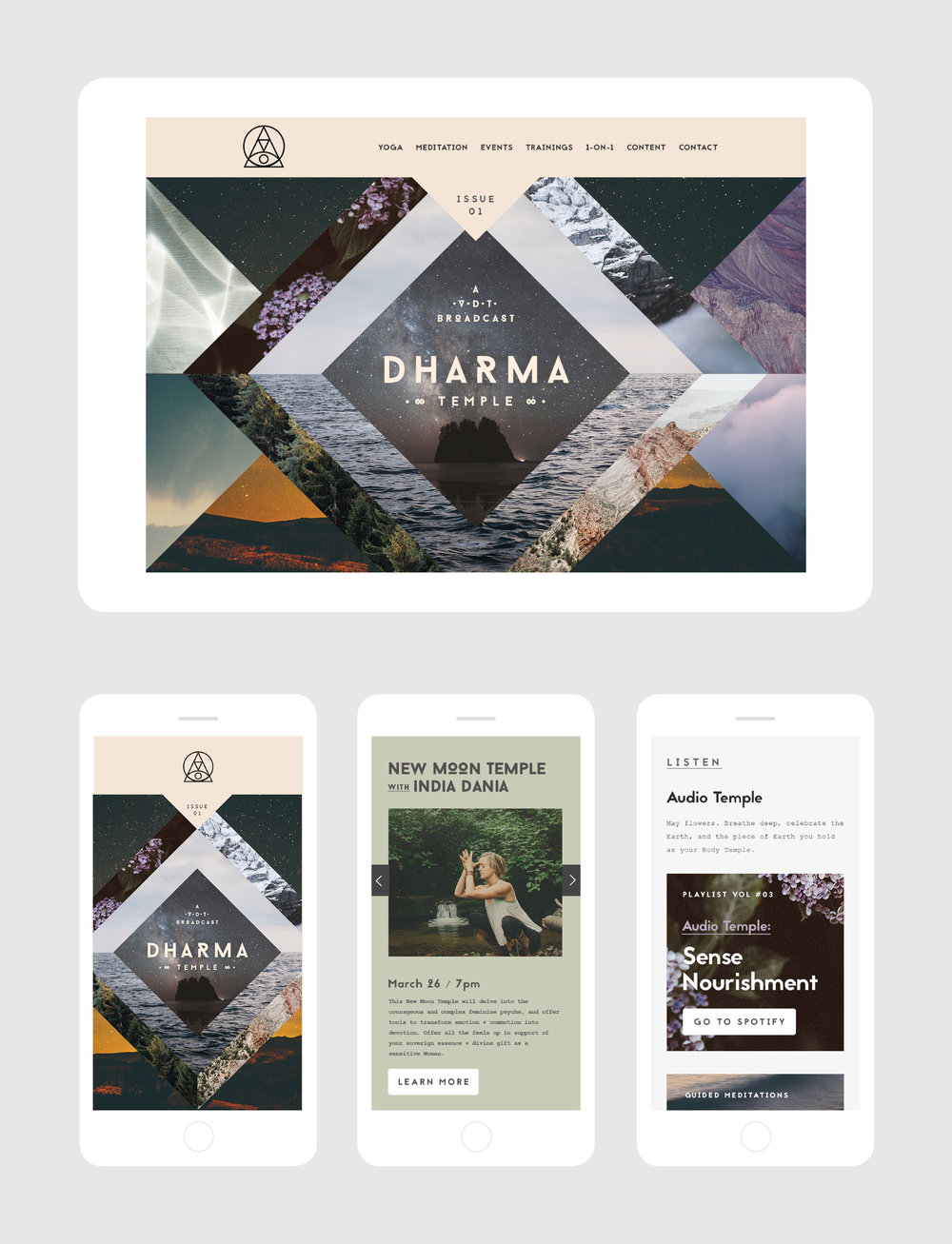 Digital artwork and web content design for an online newsletter
