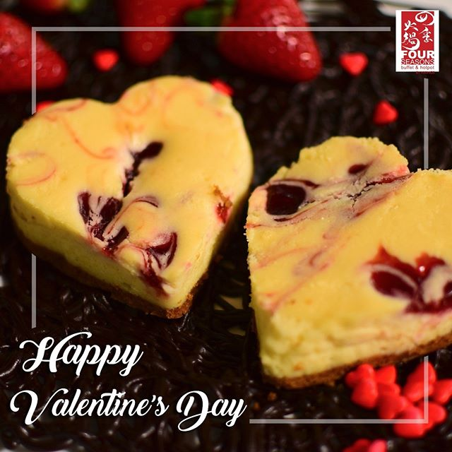 Feel loved with a potful of love and a hearty feast we have prepared for you! Happy Valentine's Day from Four Seasons Buffet & Hotpot Cubao!  Don't forget to share and tag us on your Valentine's Day experience at Four Seasons Cubao to win Four Seasons GCs! (Click on this link for more details: http://bit.ly/2BNztBd)  #FourSeasonsValentines #TheHottestBuffetInTheCity #AlwaysFreshAlwaysInSeason
