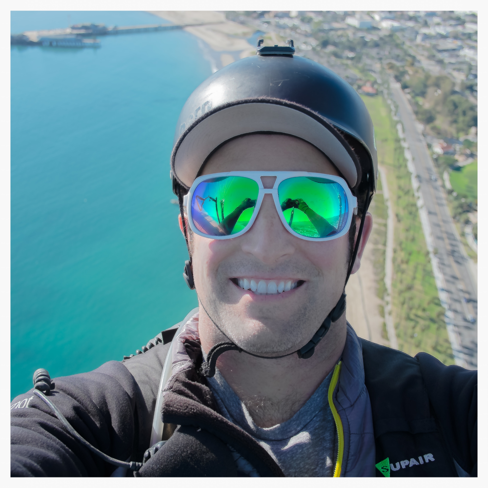 Paragliding over beautiful Santa Barbara, CA
