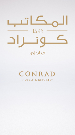 HOSPITALITY        The Conrad Offices Full branding  / Dubai MORE  >