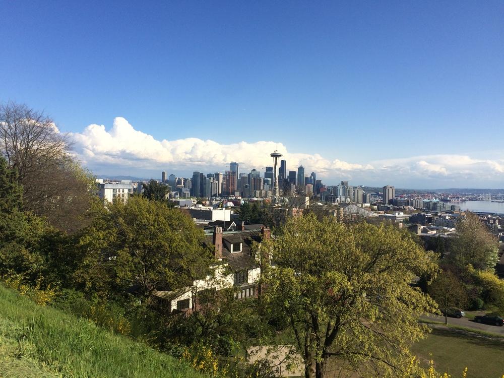 Vista de Seattle Centerdesde Kerry Park