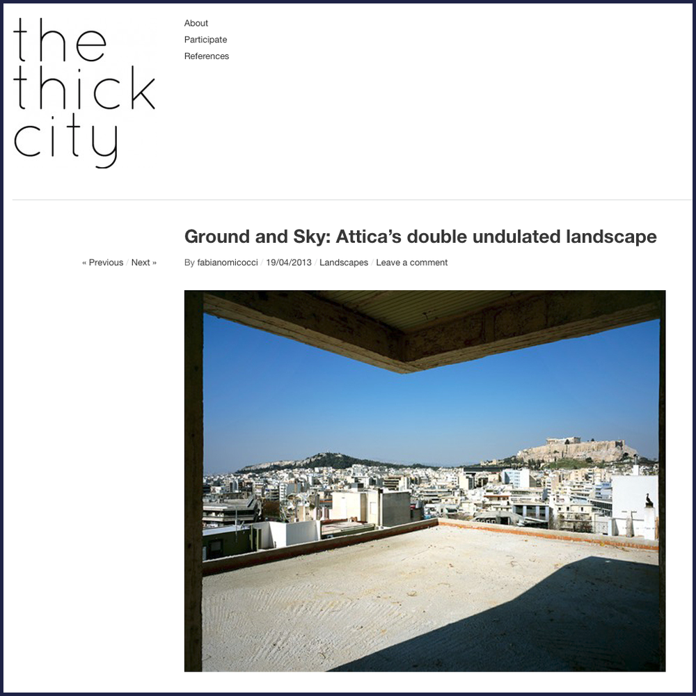 Ground and Sky: Attica's Double Undulated Landscape