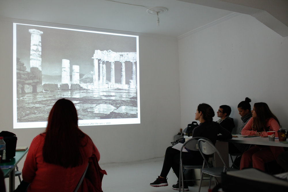 Presentation of theoretical material at MONUMENTA.