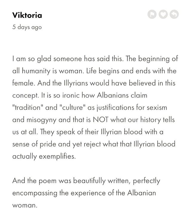 Thank you Viktoria for your beautiful + insightful comment on our latest post! #FEMRAT