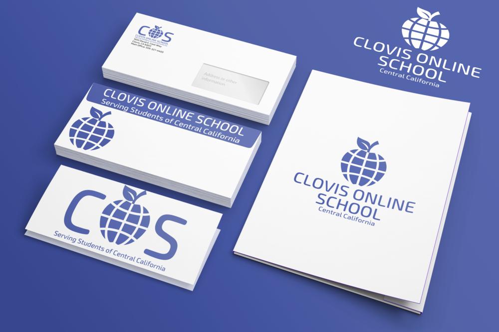 Clovis Online School branding
