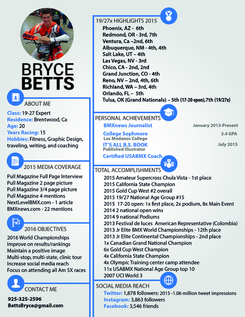digital resume bryce betts designs bmx graphic design