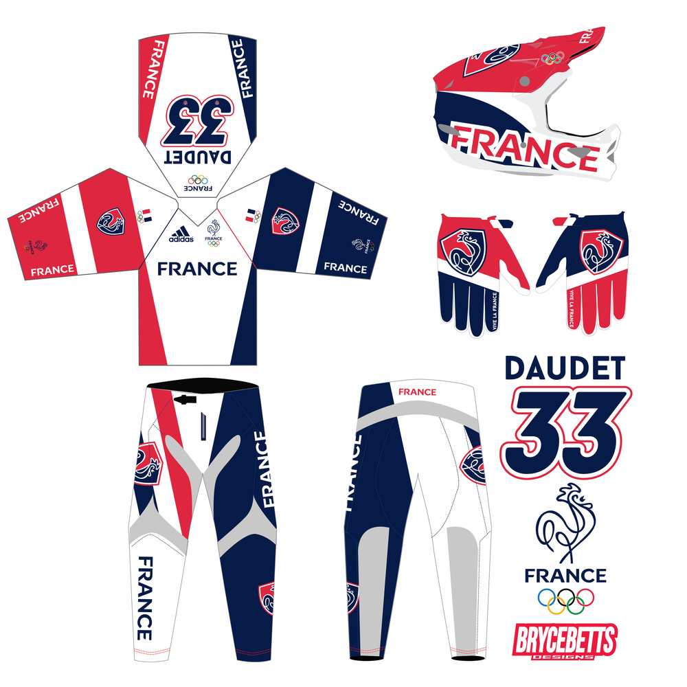 France BMX Racing Olympic Gear Design