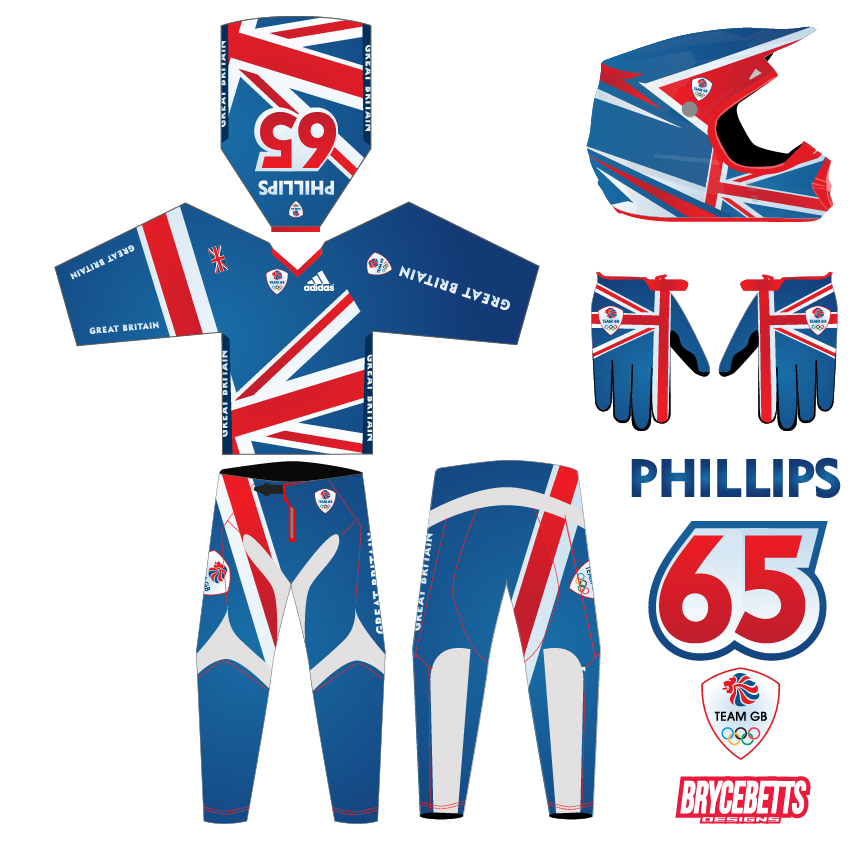 Great Britain BMX Racing Olympic Gear Design