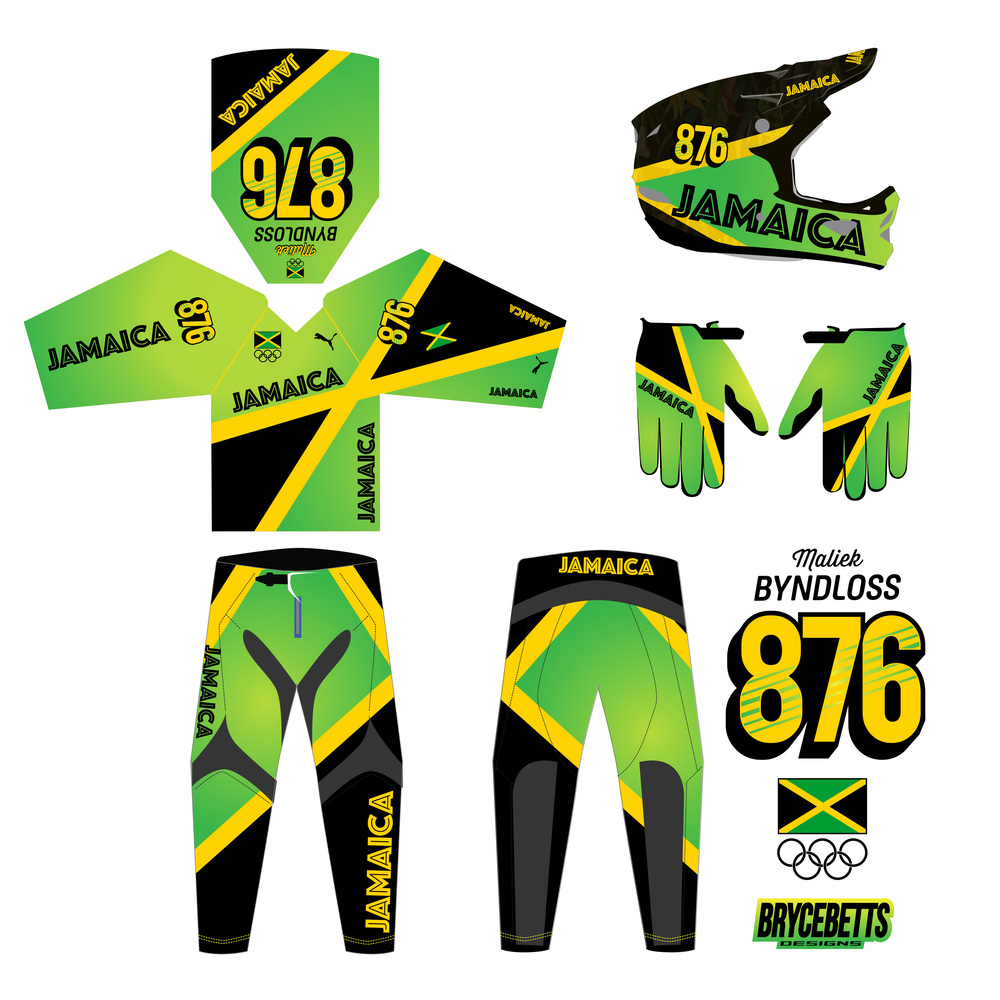 Jamaica BMX Racing Olympic Gear Design