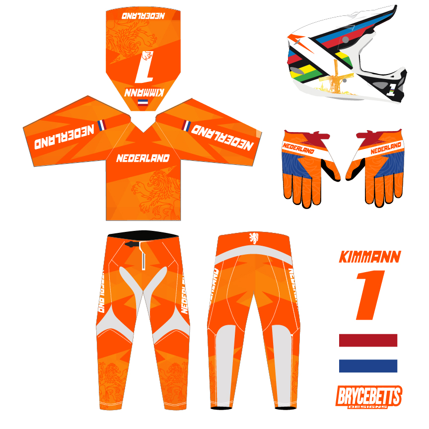 Dutch Colombia BMX Racing Olympic Gear Design