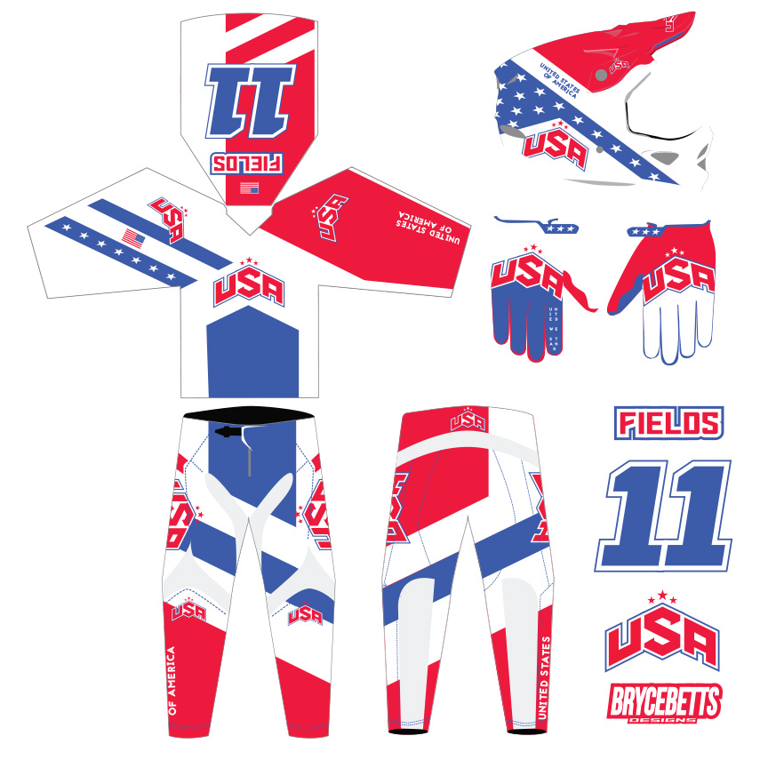 USA BMX Racing Olympic Gear Design