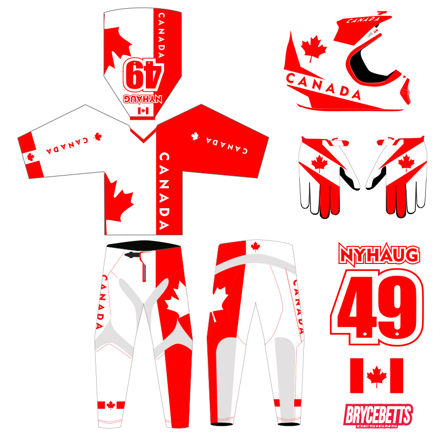 Canada BMX Racing Olympic Gear Design
