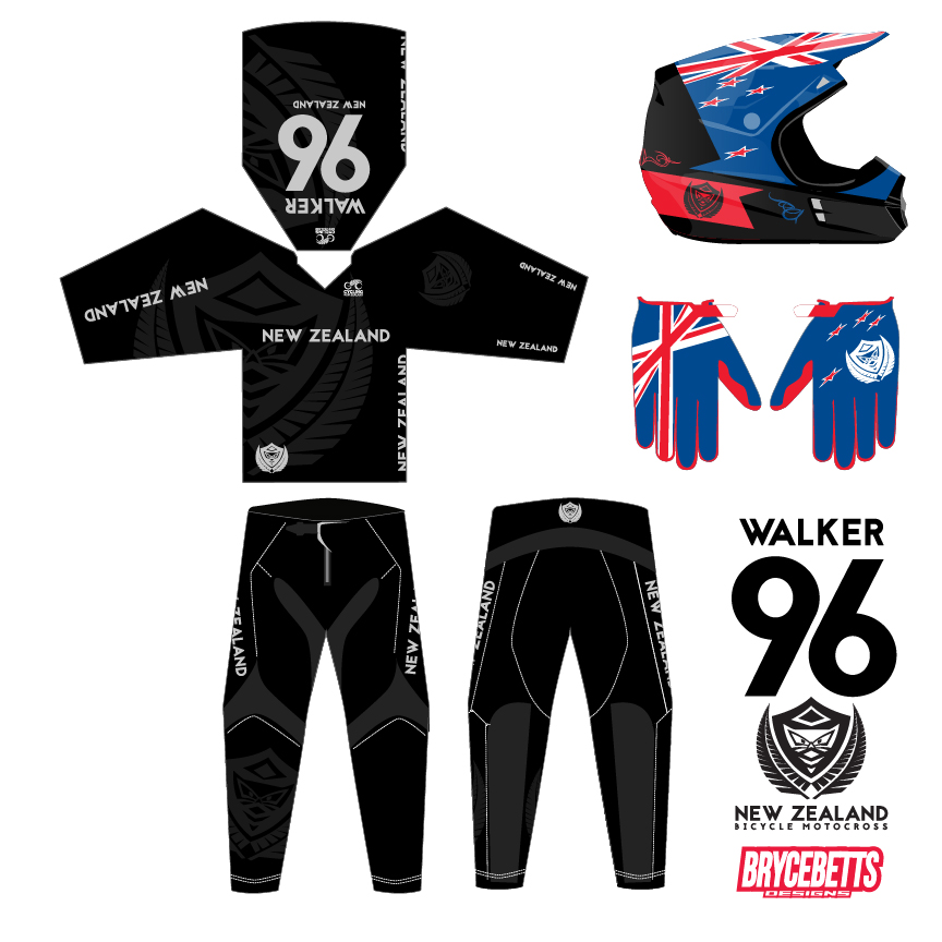 ColombiaNew Zealand BMX Racing Olympic Gear Design