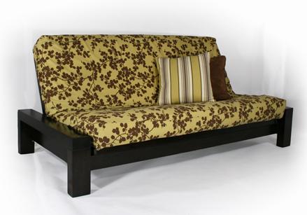 rockwell black walnut futon frame  rh   templeslug