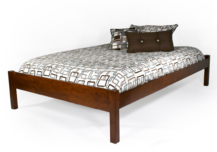 simple cherry platform bed frame