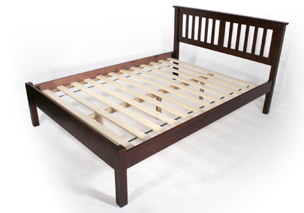 simple espresso platform bed frame