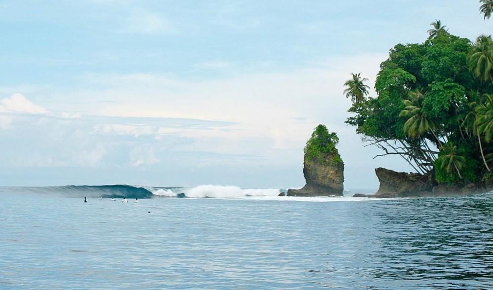 Pinnacles on telo surfing vacation mentawais surf trip