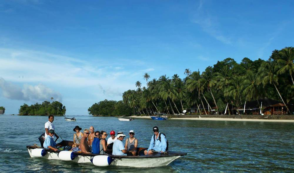 Numerous boat transfer options telo island indonesia