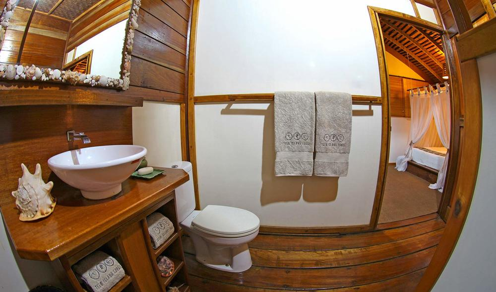 private bathrooms telo island lodge