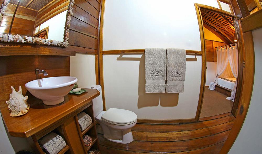 private bathrooms telo island lodge