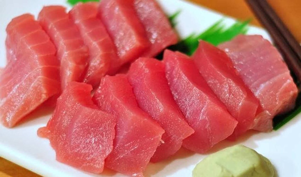 Fresh caught sashimi