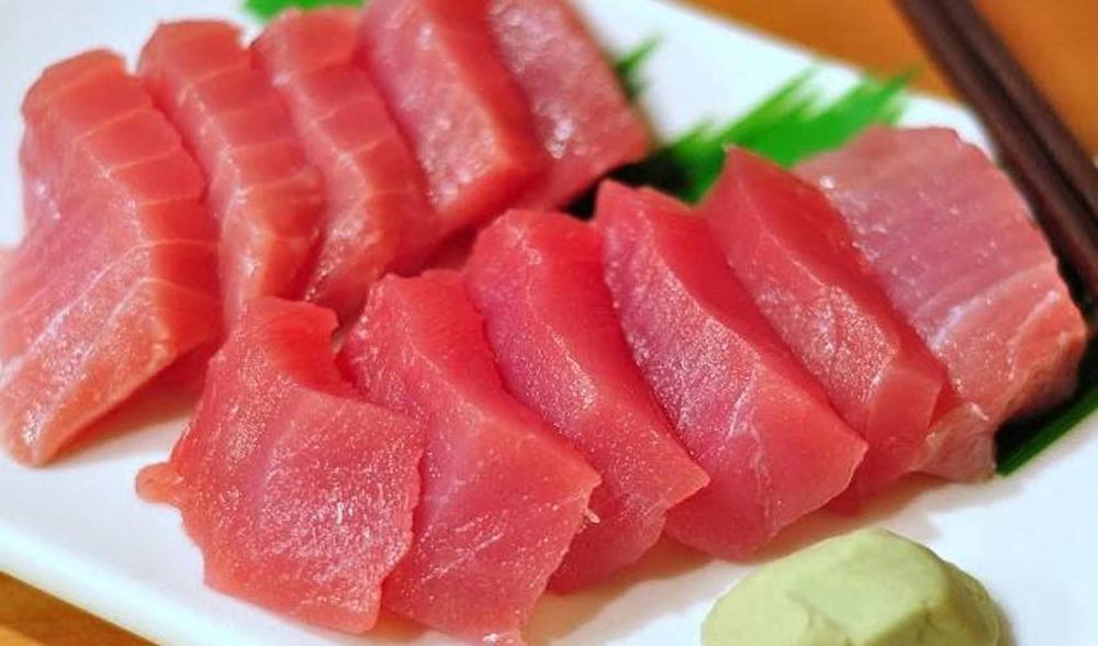Fresh caught sashimi